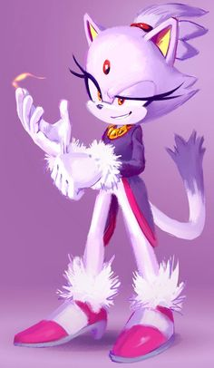 Picture of Blaze the Cat I did months ago. Blaze the Cat Sonic The Hedgehog, Silver The Hedgehog, Blaze The Cat, Sonic The Movie, Game Sonic, Mundo Dos Games, Sonic Franchise, Sonic Heroes, Sonic And Amy