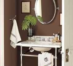 Apothecary Single Sink Console Bathroom Idea from Pottery Barn.