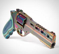 "Chiappa-Nebel 6 ""Rhino Revolver in PVD-Finish - Annina Carla Lokman Weapons Guns, Guns And Ammo, 357 Magnum, Rifles, Rhino Revolver, Katana, Tactical Equipment, Custom Guns, Cool Guns"