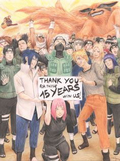 "satokochaaan: "" "" I've never been great with words, but I just want to say, Kishimoto-sensei, THANK YOU, THANK YOU SO MUCH for all your hard work during those 15 years, for making Naruto this huge..."
