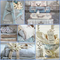 Collage by Miss Lily Bliss Decoration Shabby, Shabby Chic Decor, Deco Champetre, Pot Pourri, Color Collage, Mood Colors, Beautiful Collage, Colour Board, Belle Photo