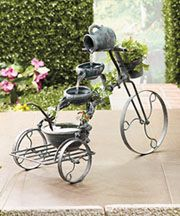 Tricycle Fountain for Garden $27.95@lakeside.com ,garden or patio,or wherever you want to use it.>>>ew331