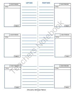 Organizing your INB from JustBePositive on TeachersNotebook.com -  (1 page)  - Use the organizer pages to help set up your teacher INB as a plan before you have the students begin theirs.