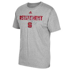 NC State Wolfpack Adidas Gray Youth Sideline Glory T-Shirt