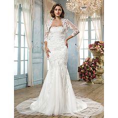 Lanting Bride® Trumpet / Mermaid Plus Sizes / Petite Wedding Dress - Classic