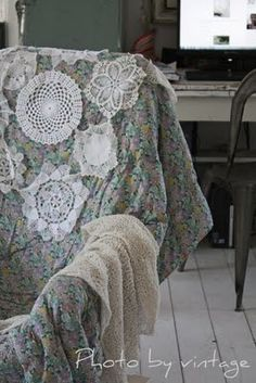 I want to make a doily chair cover