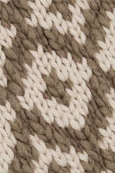 Vince - Fair Isle Wool-blend Turtleneck Sweater - Gray