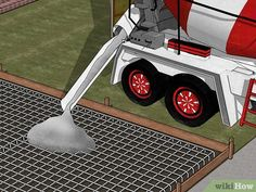 How to Build a Concrete Driveway. Concrete driveways are permanent, low maintenance additions to your home that can improve its appearance, give kids a safe place to ride scooters, decrease erosion, and make keeping your car clean easier. Diy Concrete Driveway, Diy Driveway, Concrete Driveways, Driveway Landscaping, Driveway Ideas, Horse Barn Plans, Long Driveways, Diy Garage, Barn Garage