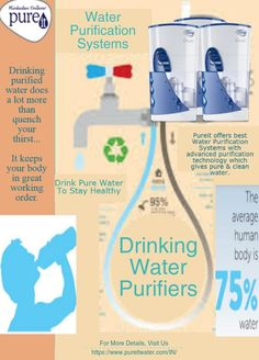 #Pureit offers best #WaterPurificationSystems with advanced purification technology which gives pure & clean water.