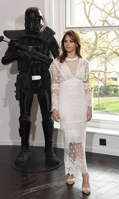 Felicity Jones attends the 'Rogue One A Star Wars Story' photocall at The Corinthia Hotel on December 14 2016 in London England