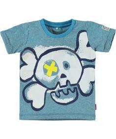 Name It stoere t-shirt voor kleine jongens met petrol streepjes. name-it.nl.emilea.be