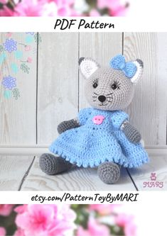 Crochet Animal Patterns, Crochet Patterns Amigurumi, Stuffed Animal Patterns, Crochet Ideas, Knitting Patterns, Easy Crochet, Crochet Mouse, Crochet Bunny, Handmade Toys