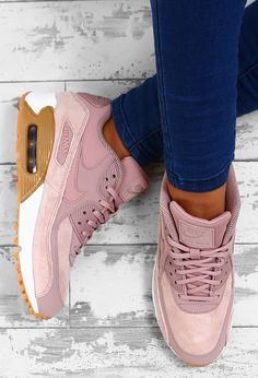 Nike Air Max 90 SE Pink Trainers | Pink Boutique