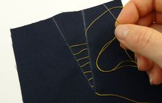 How to match dart legs - would be useful for patterned fabrics that need to be matched  Hand Basting Thread on Dart Lines