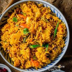 Ready in under 30 minutes, this Instant Pot Vegetable Biryani is flavorful, delicious and easy to make. This recipe is definitely a keepe. Vegetarian Biryani, Vegetable Biryani Recipe, Veg Biryani, Vegetarian Recipes, Cooking Recipes, Healthy Recipes, Simple Recipes, Curry Recipes, Indian Food Recipes