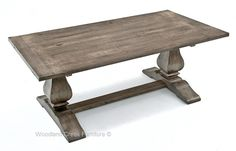 Rustic Trestle Base Table, Reclaimed Wood, Tuscan, Old