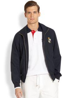 Façonnable Tennis Club Blouson Jacket in Blue for Men (NAVY)   Lyst