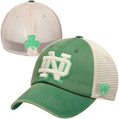 Notre Dame Fighting Irish Top of the World Vintage Luck 1Fit Hat - Green M/L