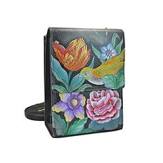 Anuschka Hand Painted Mini Sling Organizer, Vintage Bouquet >>> Details can be found by clicking on the image.