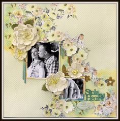 This has sunshine in our souls! Gorgeous single page layout using FabScraps C105 Memory Lane Collection.