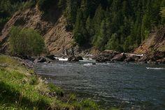 Alder Flat, Clackamas River in Oregon