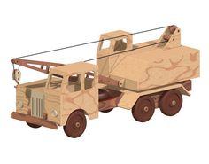 Wooden Truck Crane