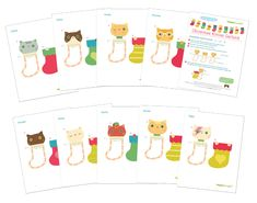 kawaii kittens garland diy home decorations for free