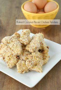Baked Coconut-Pecan Chicken Tenders Recipe