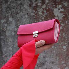 ausgefallene kellnerbörsen leder pink