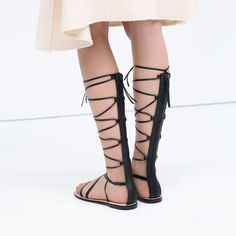 ZARA - SHOES & BAGS - LEATHER GLADIATOR SANDALS