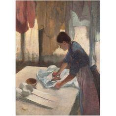 Trademark Fine Art Woman Ironing 1876-87 Canvas Art by Edgar Degas, Size: 24 x 32, Multicolor
