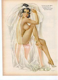 Vargas Pin Up Girl Original June 1965 Playboy by vintagemags4u, $6.00