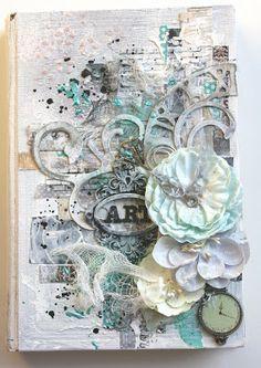 Chic Scrapbook Designs by Limor Webber Art Journal cover. Video tutorial
