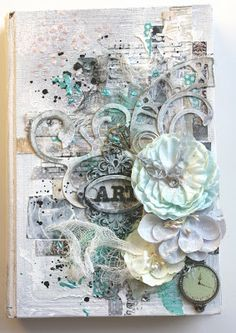 Chic Scrapbook Designs by Limor Webber Art Journal cover. Video tutorial