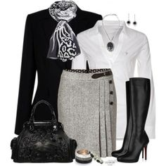 My all time colors as a combination - black, white and grey.....
