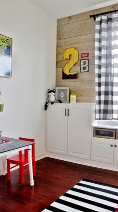 Playroom Makeover with Built-In Cabinets for Storage