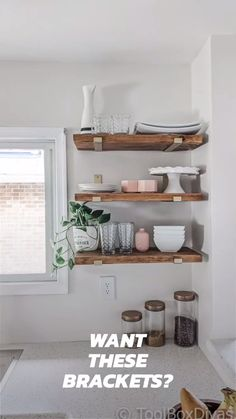 Cost Of Kitchen Cabinets, Diy Kitchen Shelves, Kitchen Decor, Bathroom Shelves, Kitchens With Open Shelving, Open Cabinet Kitchen, Diy Kitchen Ideas, Kitchen Shelf Inspiration, Small Kitchen Ideas On A Budget