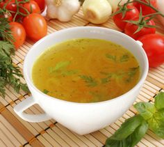 """Vegetarian """"chicken soup""""...made this last week for a sick aunt; she called me to tell me that she licked the bowl clean!"""