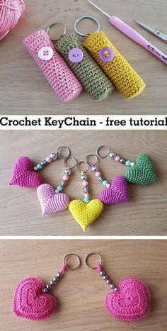 Keychain Crochet Keychain Crochet Record of Knitting Yarn spinning, weaving and stitching jobs such as BC. Chat Crochet, Crochet Amigurumi, Learn To Crochet, Crochet Toys, Free Crochet, Things To Crochet, Crochet Pikachu, Crochet Keychain Pattern, Tutorial Crochet