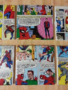 Cool Retro Marvel Spiderman Comic Book Coasters by xsoulsearchingx, $14.99