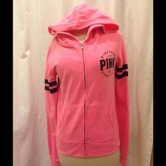 Victoria's Secret Pink Sweater Varsity Hoodie