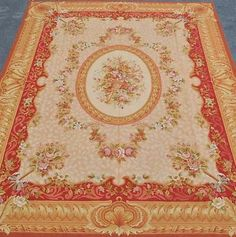 12'x15' Oversize Hand Woven Reproduction French Aubusson Weave Rug~Brand New