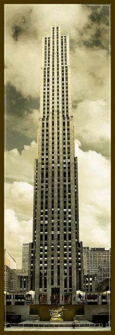 G. E. Building (formerally RCA Building) aka 30 Rock, Rockefeller Center, New York