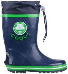 DĚTSKÉ HOLÍNKY COQUI RONIE TMAVĚ MODRÁ/ZELENÁ 30-35 Rubber Rain Boots, Shoes, Fashion, Moda, Zapatos, Shoes Outlet, Fasion, Footwear, Fashion Illustrations