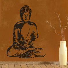 Een bijzondere muursticker van een #boeddha