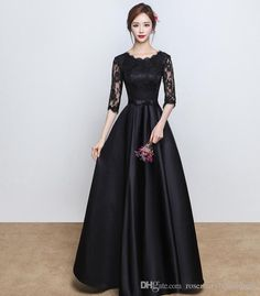 2017 New Designer Navy Blue Long Prom Dresses for Evening Party Lace Satin Floor Length Cheap Prom Dress Formal Gowns Z-40 Prom Dresses Party Dresses Wedding Guest Dress Online with $120.0/Piece on Rosemarybridaldress's Store | DHgate.com