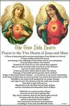 Our Morning Offering – 9 June – The Feast of the Immaculate Heart of Mary  Prayer to the Two Holy Hearts of Jesus and Mary  O Heart of Jesus pierced for our sins and giving us Your Mother on Calvary! O Heart of Mary pierced by sorrow and sharing in the sufferings of your divine Son...#mypic