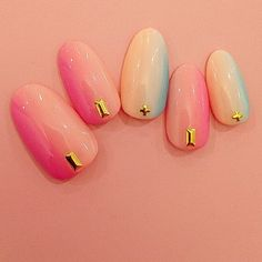 Image that popular ♡ manicurist aoi's nail in the SNS has been introduced in too cute ♡ a girly Japanese Nails, Pedi, Nails Inspiration, Beauty Nails, Summer Nails, Nail Art Designs, Girly, Instagram Posts, Nail Arts