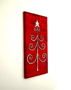 Custom Orders Only Christmas Tree Wall Decor par mamapainter, $85,00