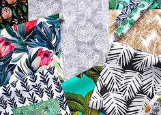 Shop trending Monstera fabric, gift wrap and wallpaper themes